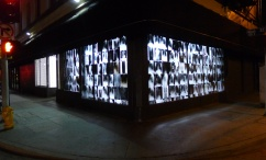 Here is an external view night view of Tony's Down Town LA installation of X-rays