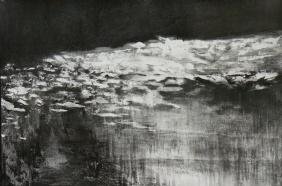 Glint [graphite on paper, 68.5 x 101 cm]