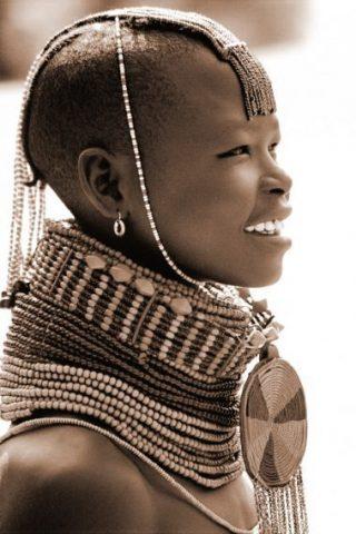 v2 Turkana girl in profile sepia